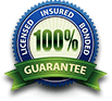 Licensed insured bonded 100% guaranteed